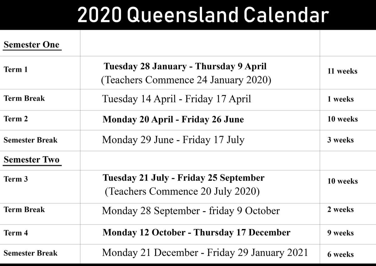 Qld School Holidays 2020 – 2021 | Qld School Holidays_School Calendar Qld 2020