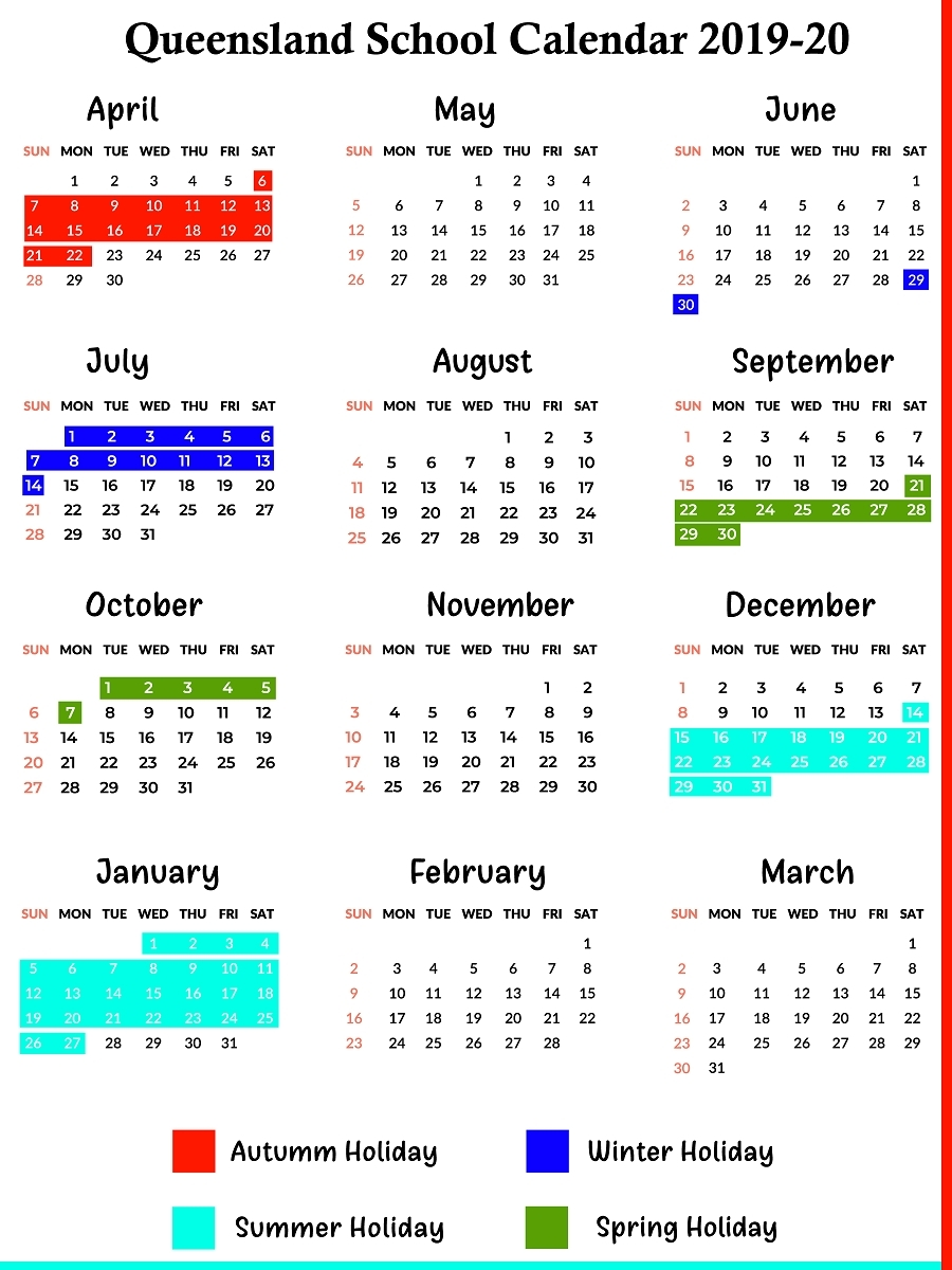 Qld School Holidays Calendar 2019 – 2020 | Qld School Holidays_School Calendar 2020 Qld