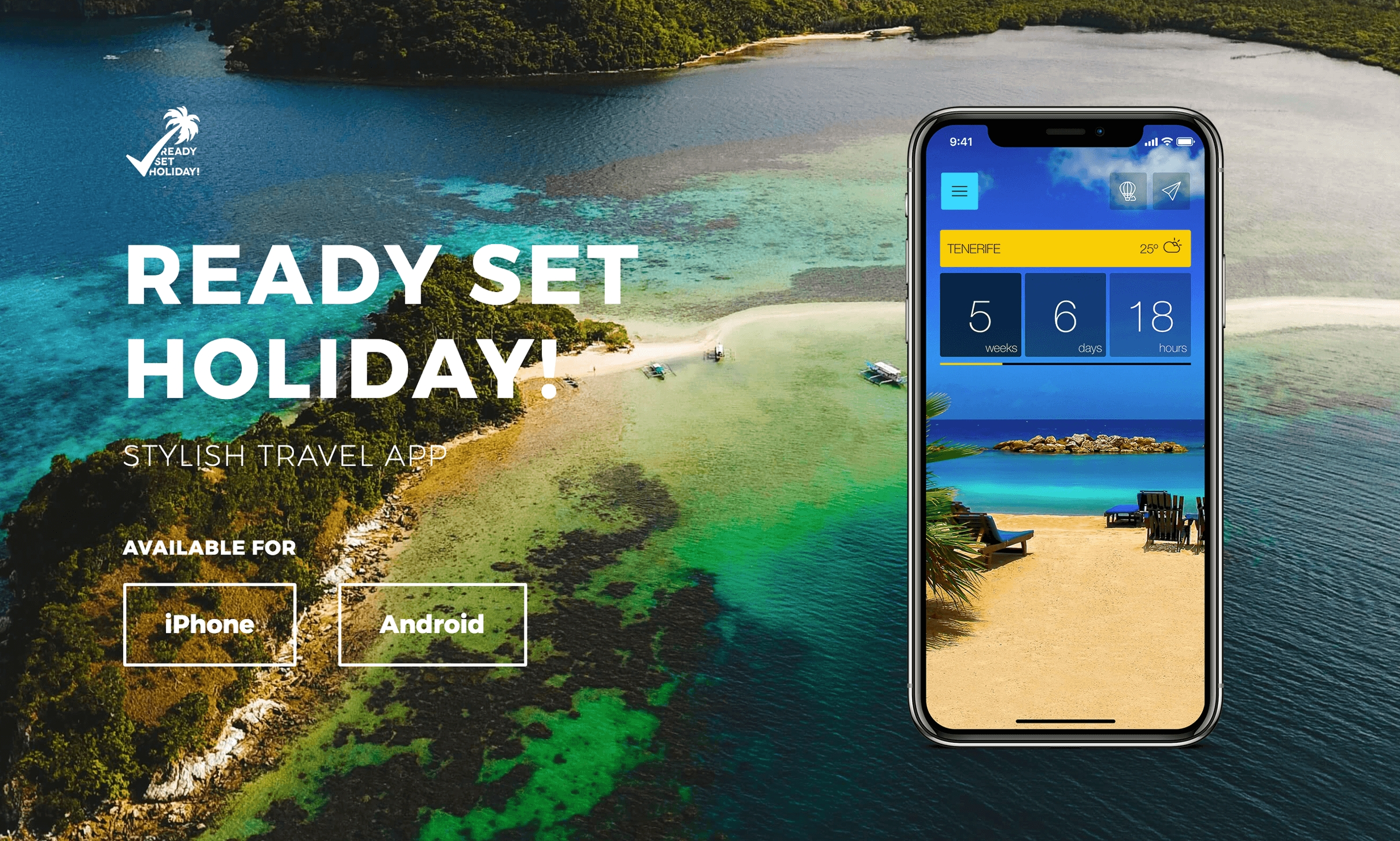 Ready Set Holiday! Stylish Travel App On Iphone And Android_Calendar Countdown On Iphone