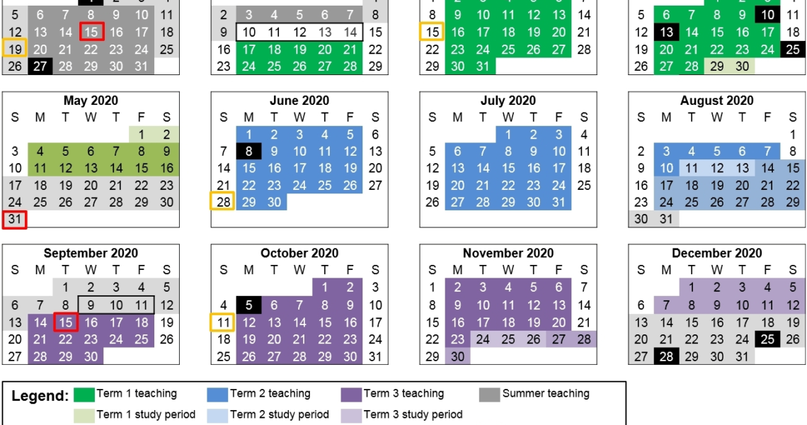 Remarkable 2020 School Calendar Nsw • Printable Blank Calendar Template_School Calendar 2020 Nsw