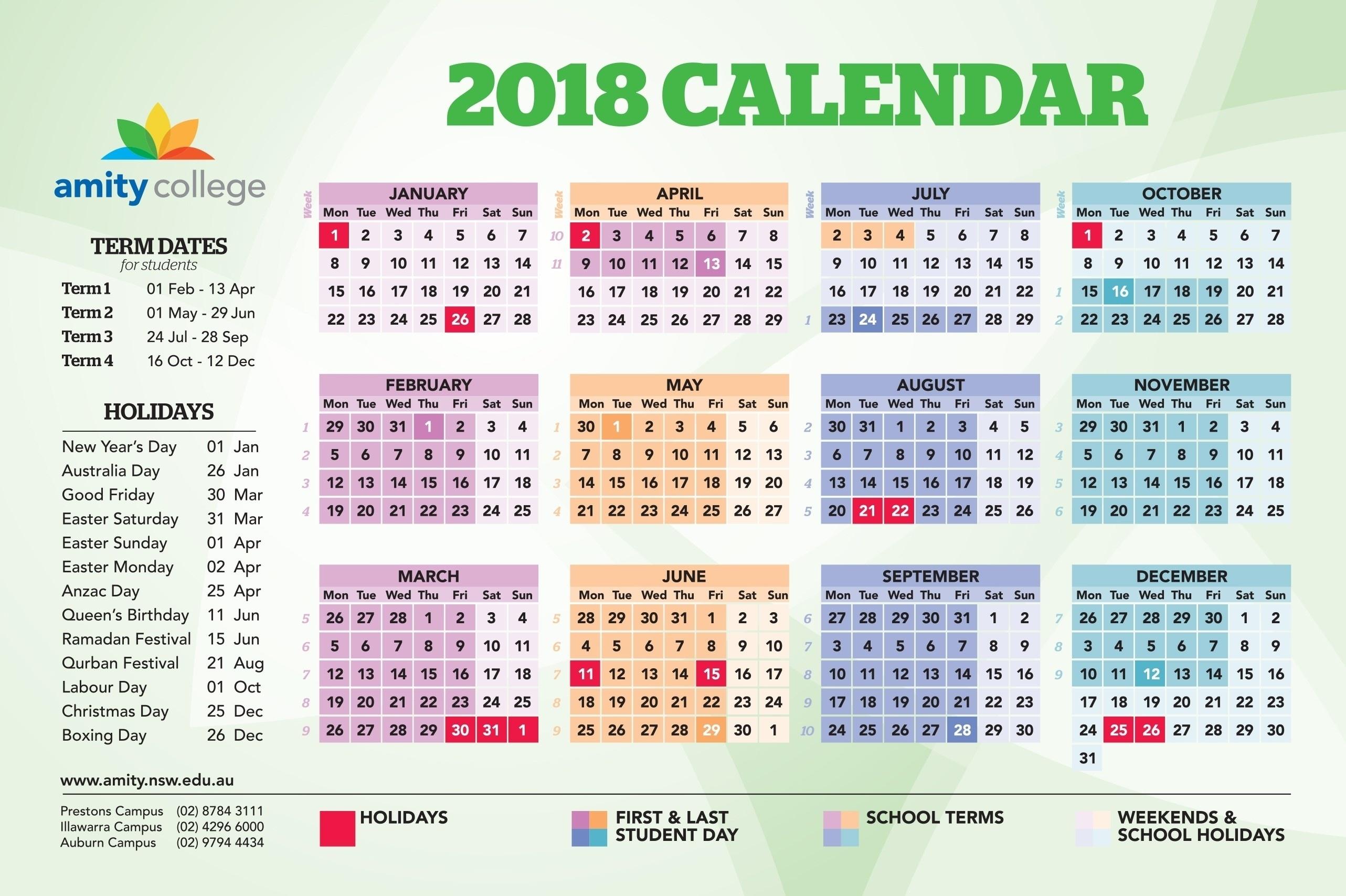 Remarkable 2020 School Calendar Nsw • Printable Blank Calendar Template_School Calendar For 2020-18