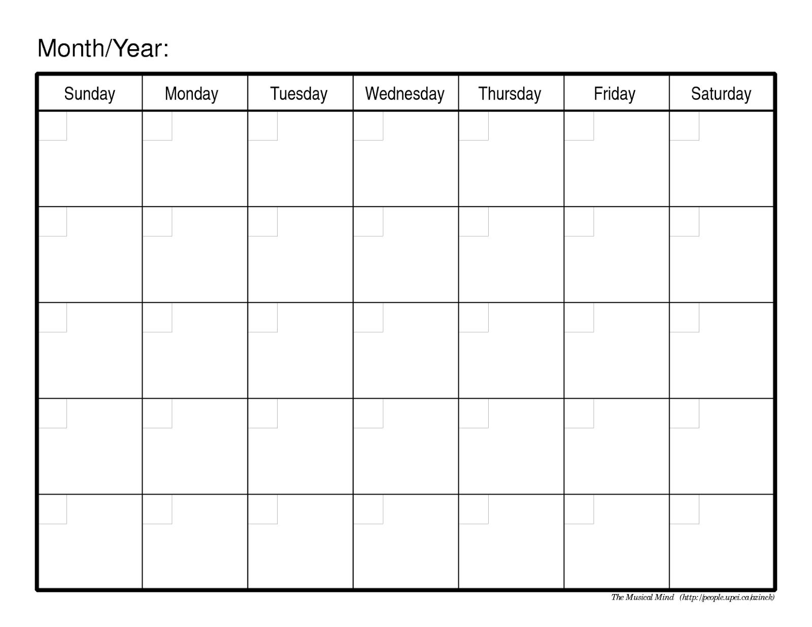 Remarkable Blank Calendar No Year • Printable Blank Calendar Template_Blank Calendar No Year