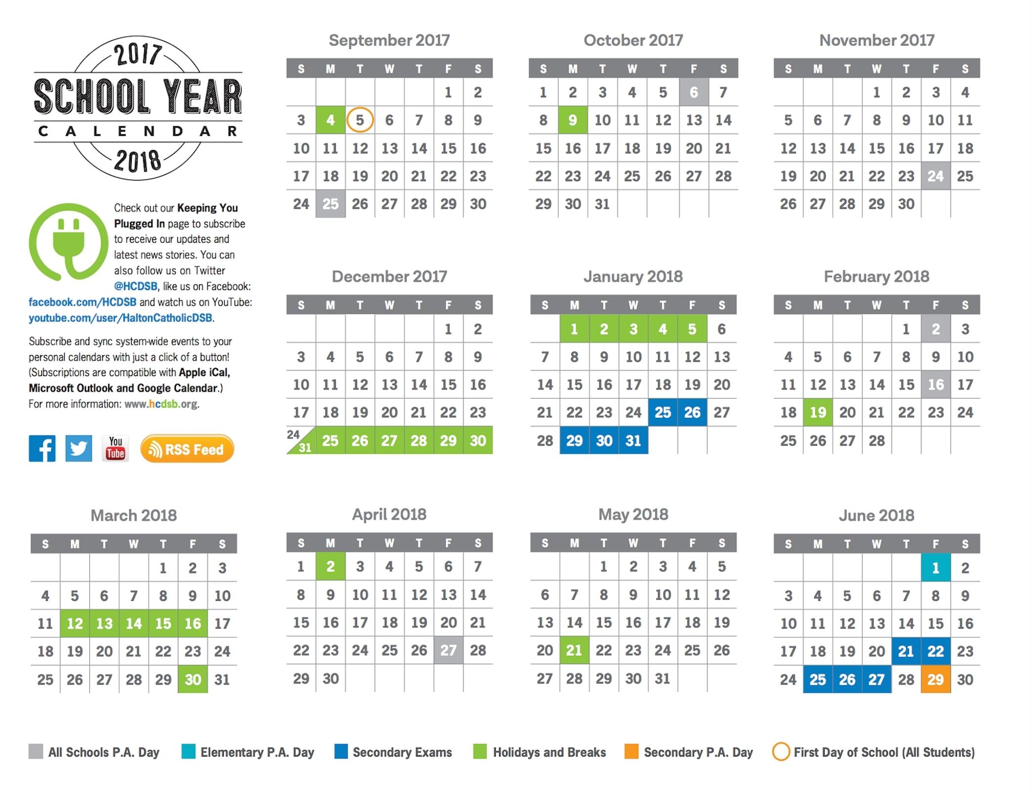 Remarkable District 6 School Calendar 2019 • Printable Blank_District 6 School Year Calendar