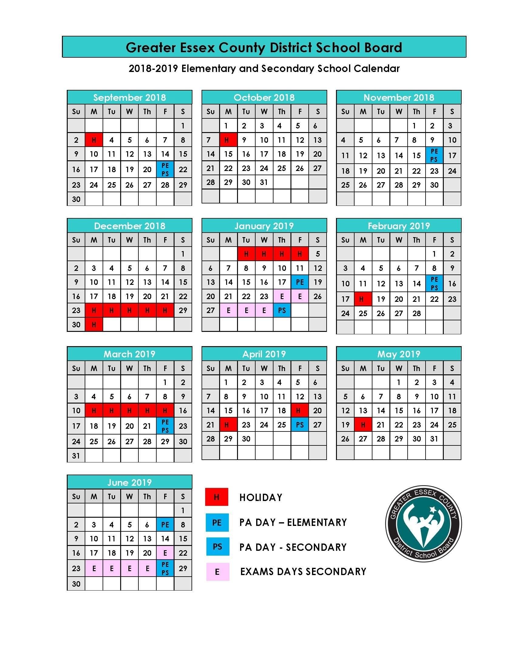 Remarkable District 6 School Calendar 2019 • Printable Blank_School Calendar Nova Scotia