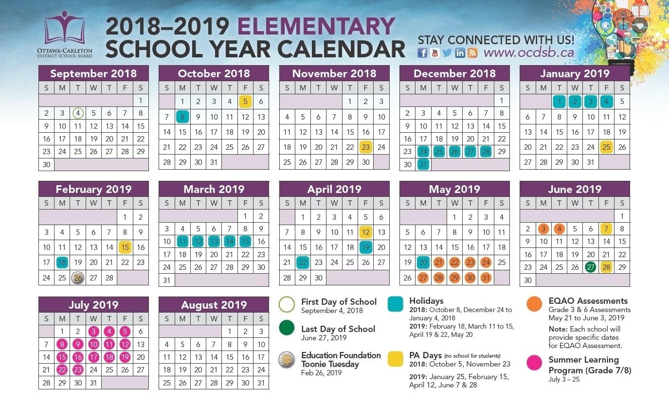 Remarkable District 7 School Calendar 2019-19 • Printable Blank_District 7 School Calendar