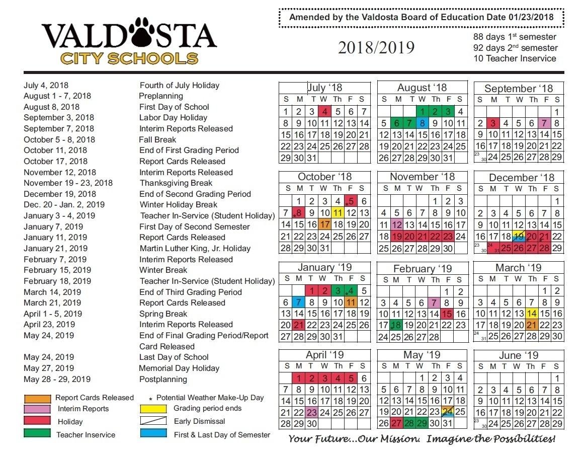 Remarkable Georgia Pre-K School Calendar • Printable Blank Calendar_Pre K School Calendar