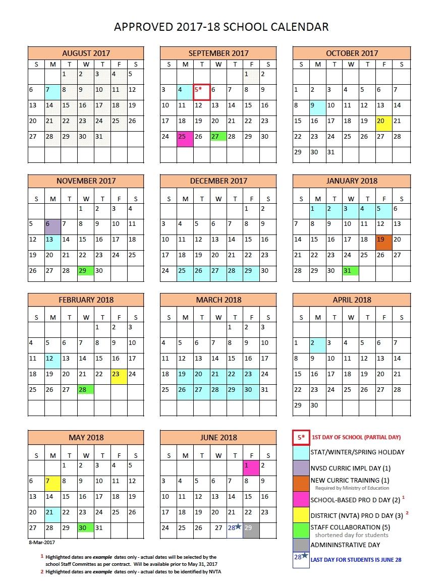 Remarkable School Calendar District 300 • Printable Blank Calendar_School Calendar District 300
