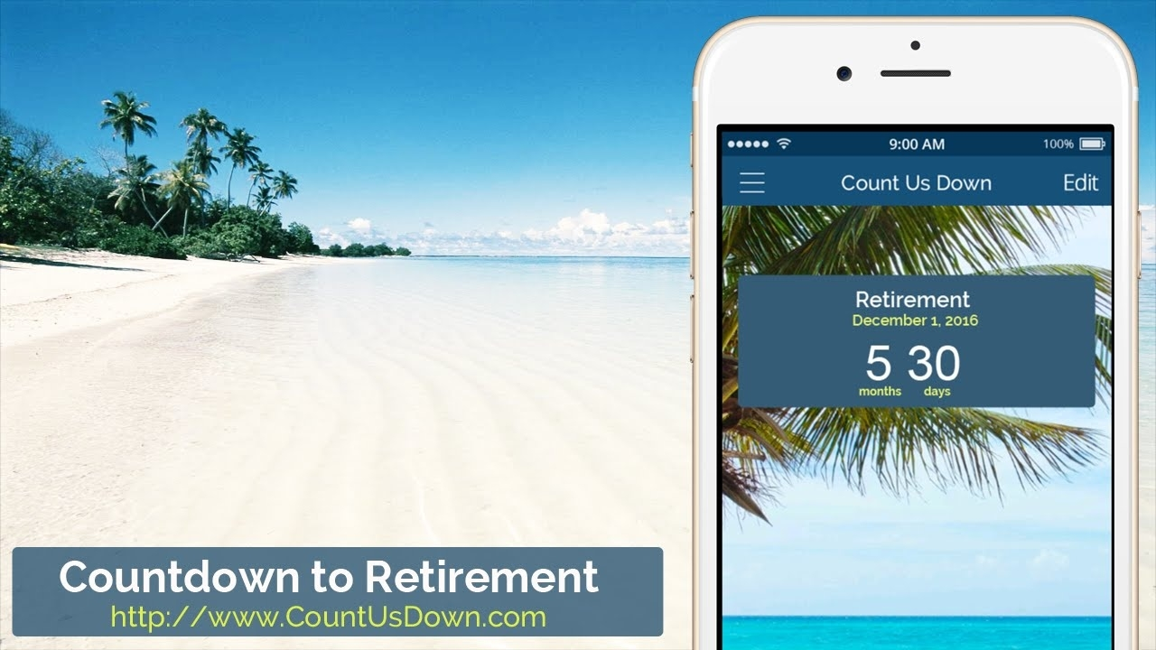 Retirement Countdown - App To Count Down The Days To Retirement_Countdown Calendar For Iphone