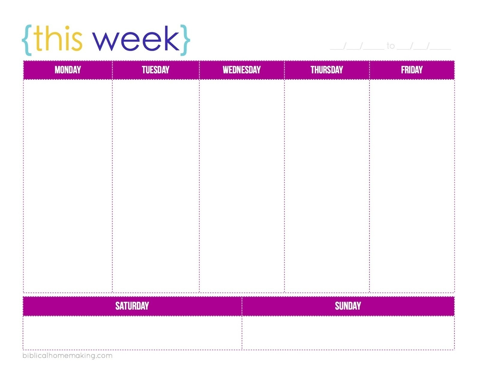 Schedule Template Printable One Week Calendar E2 80 93 Celo_1 Week Calendar Blank