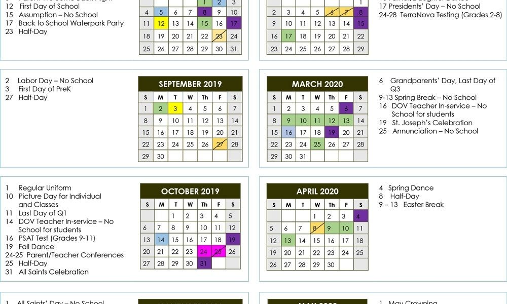 School Calendar 2019-2020 | Donahue Academy_Calendar School 2020 Florida