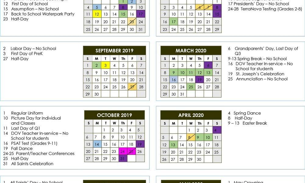 School Calendar 2019-2020 | Donahue Academy_School Calendar Florida 2020