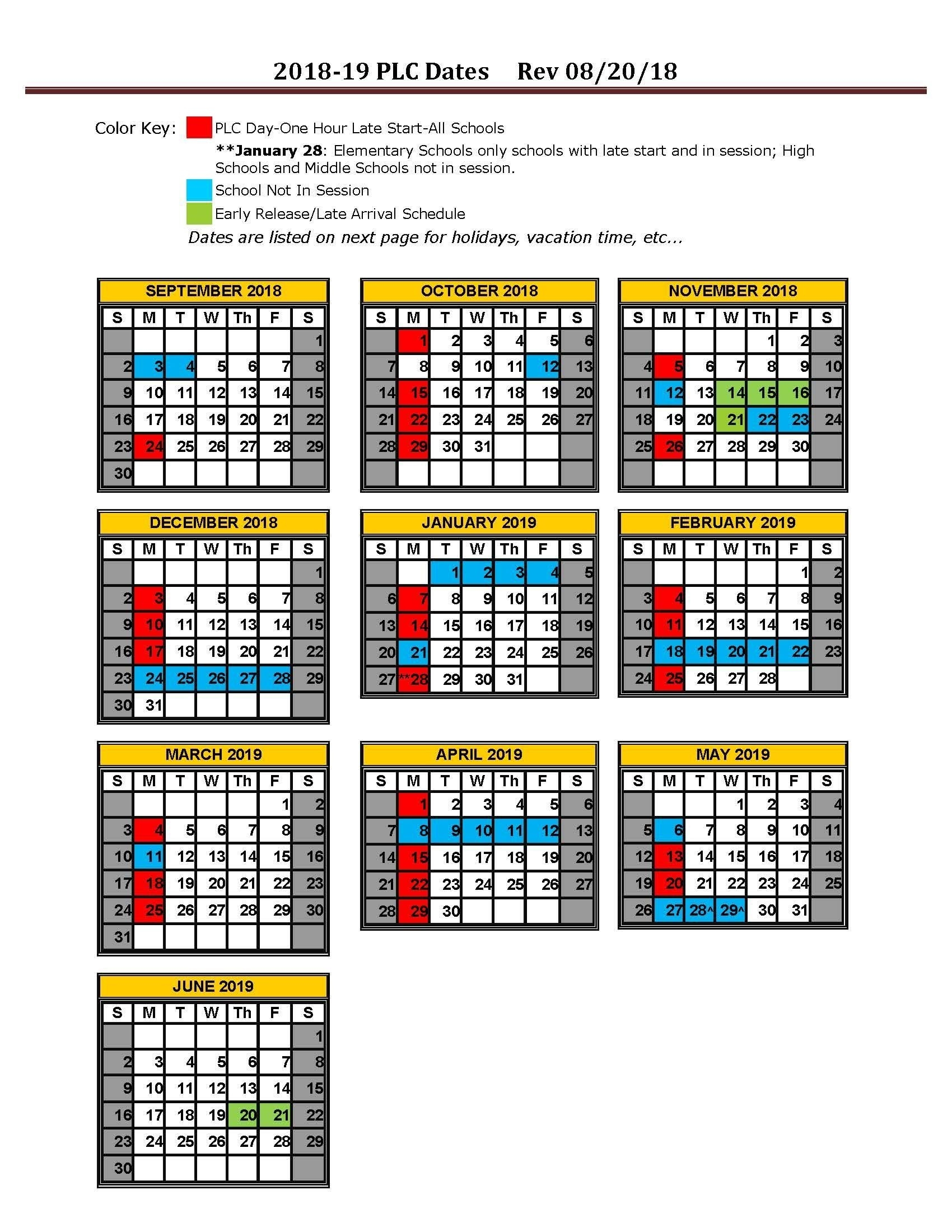 School Calendar / Calendars_7 Hills School Calendar