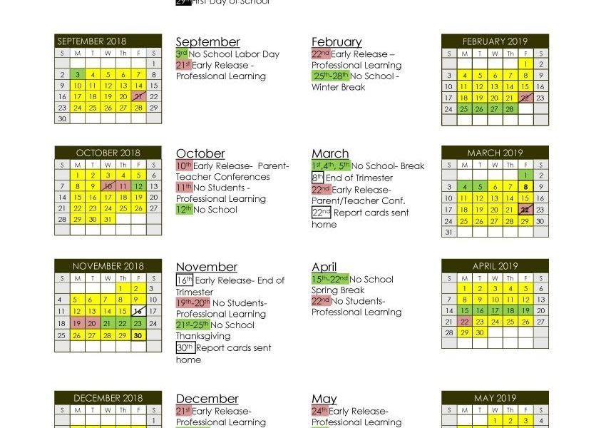 School Calendar - Lyndon Town School_St J School Calendar
