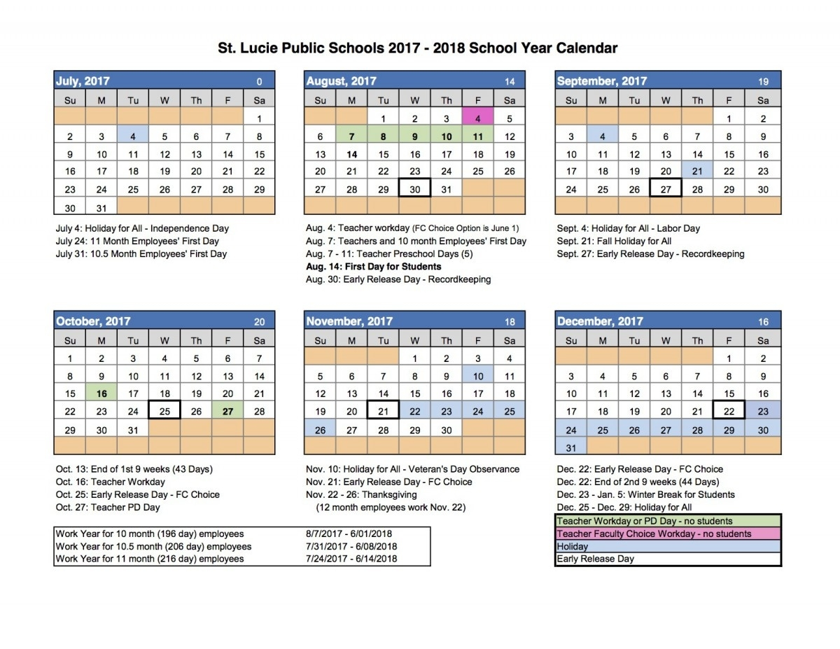 School-Calendar – Northport K-8_School Calendar Port St Lucie
