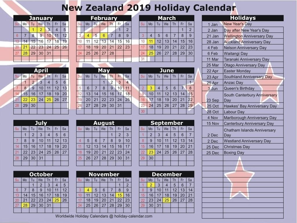 School Holidays 2019 Nz Calendar • Printable Blank Calendar Template_School Calendar Nz 2020