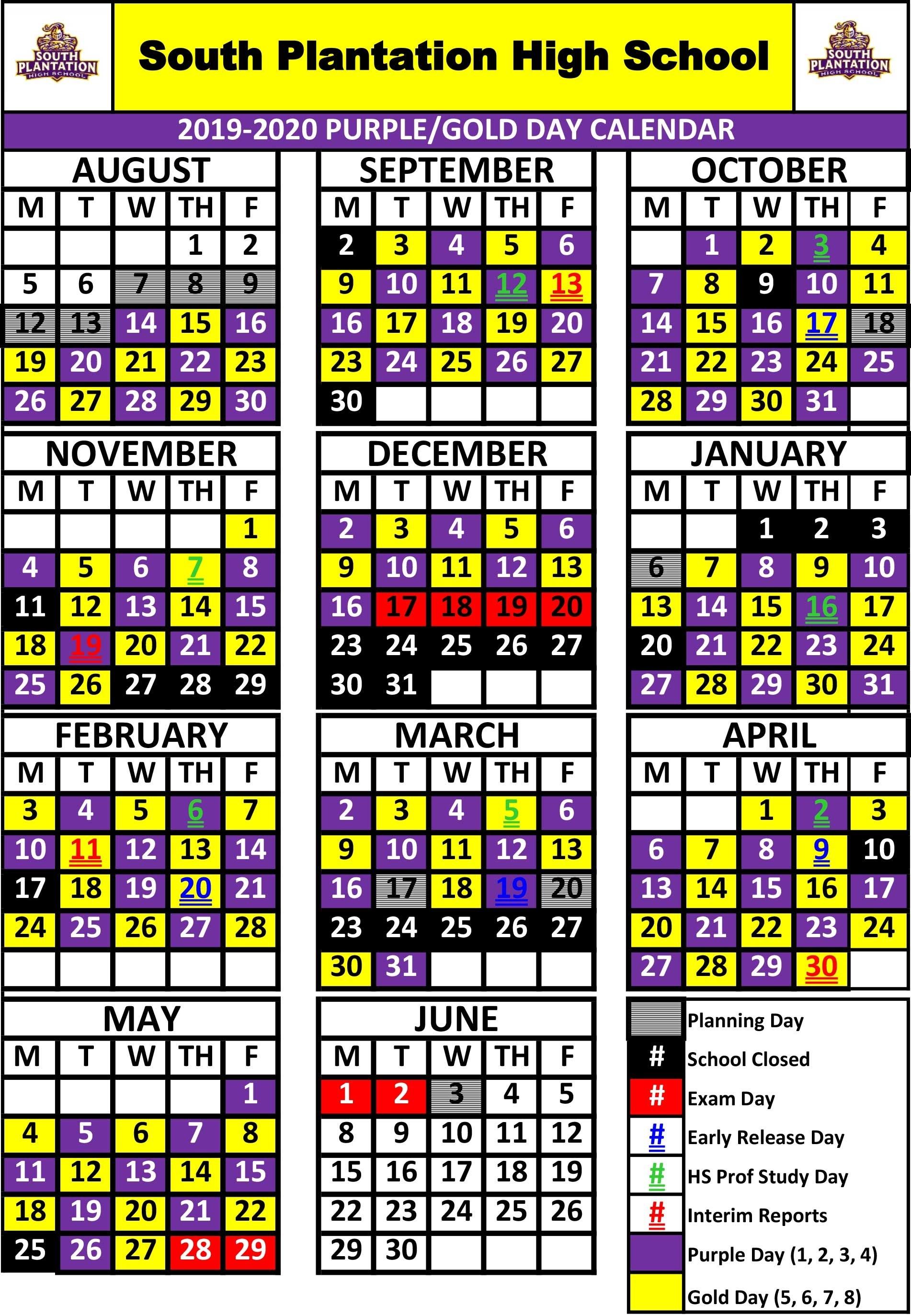 School Schedule / South Plantation Schedule_School Calendar Bay County Florida