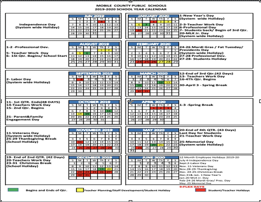 School Year Calendars_Calendar School District 42