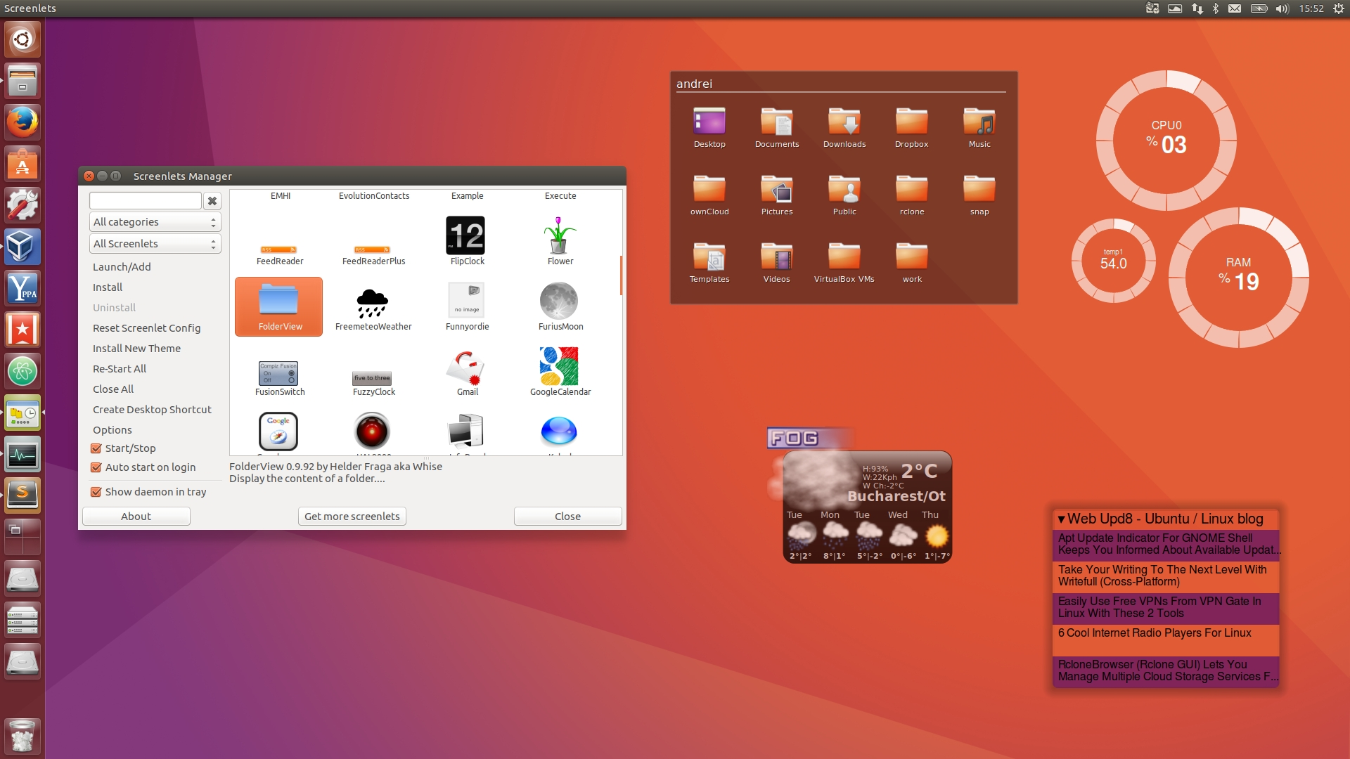 Screenlets (Desktop Widgets) Fixed For Ubuntu 16.04, Available In_Calendar Countdown In Desktop