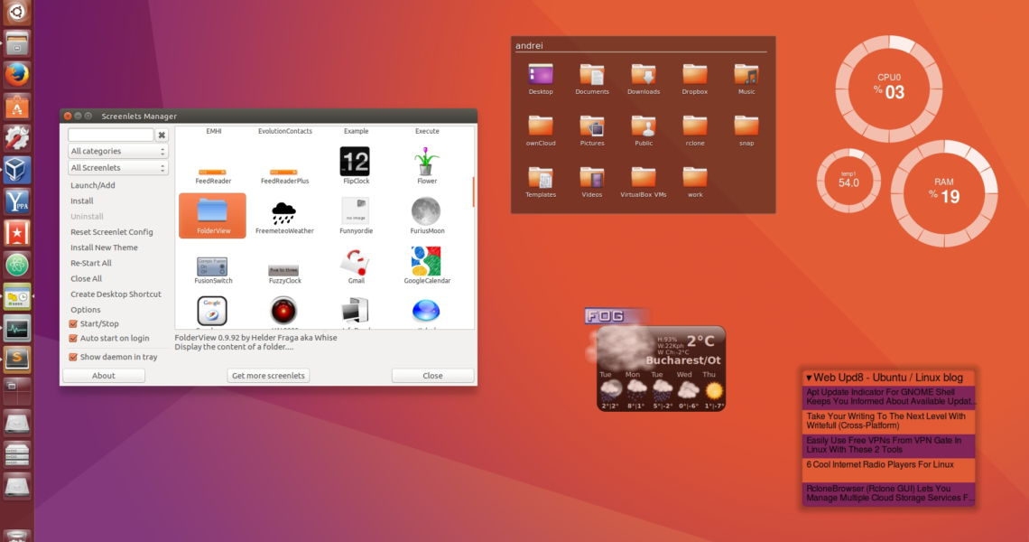 Screenlets (Desktop Widgets) Fixed For Ubuntu 16.04, Available In_Countdown Calendar Desktop Gadget
