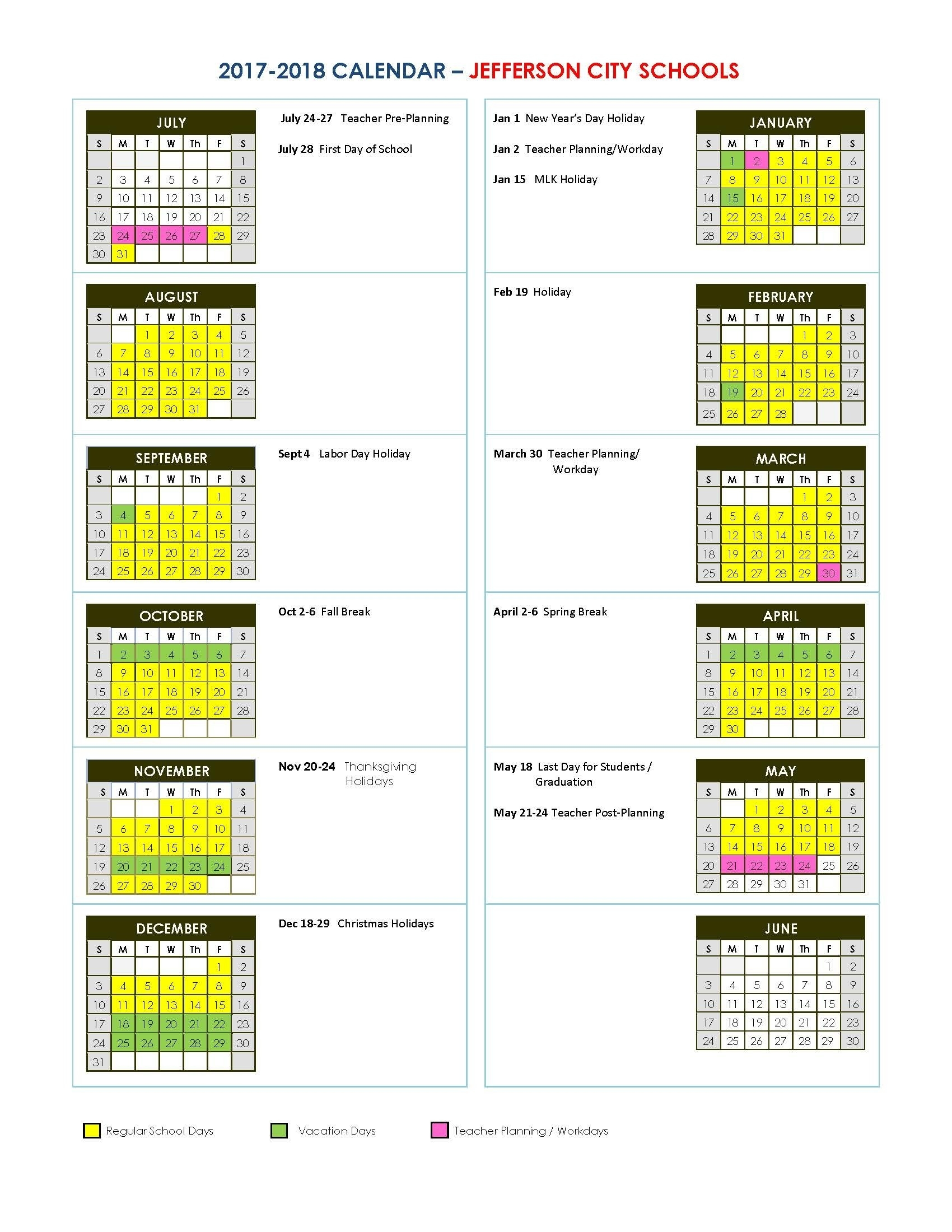 "Search Results For ""Free Printable Weekly Calendar 2018"" – Page 24_School Calendar Jefferson County Wv"