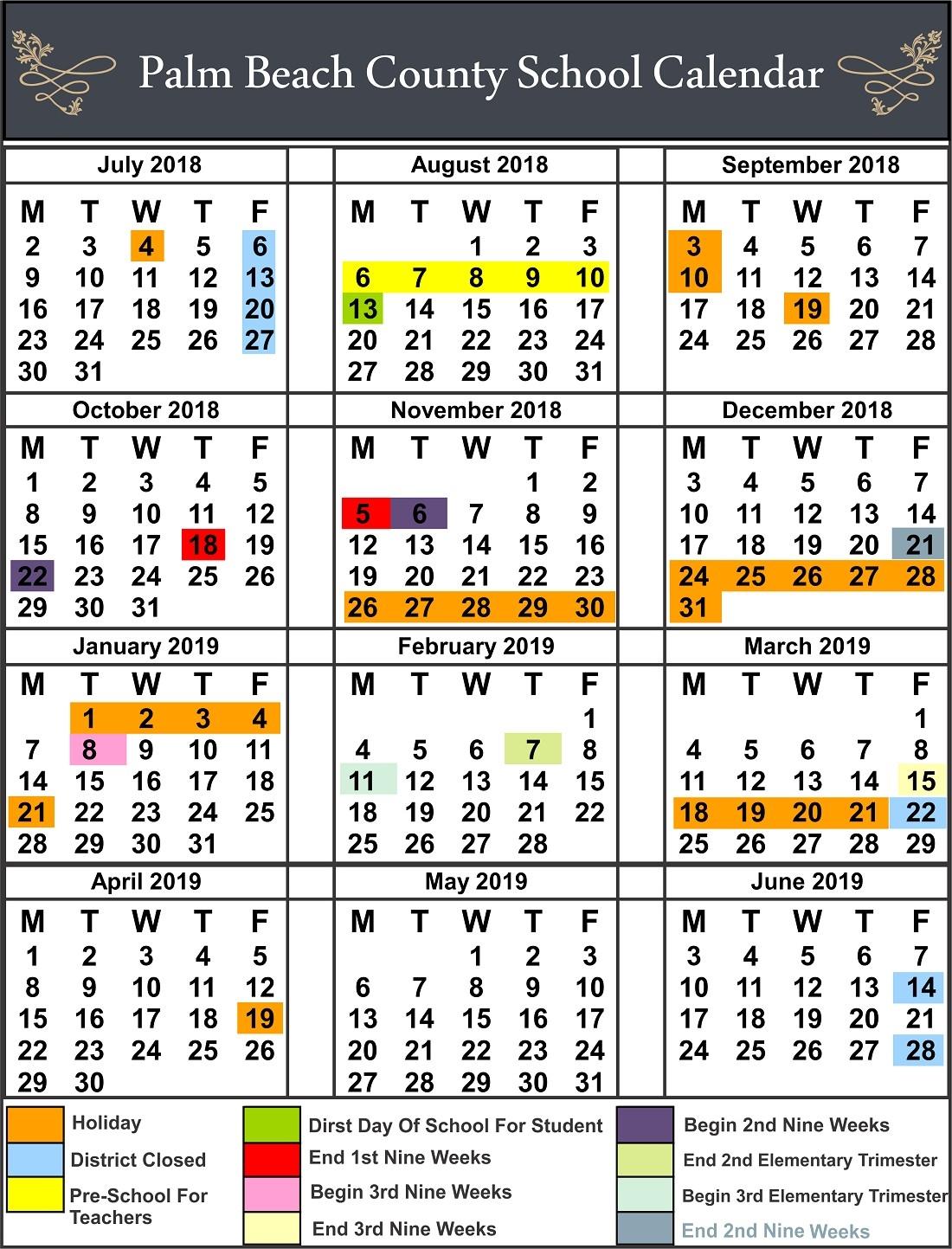 Seminole County School Calendar 1 Leon  </p>   </div>        <br>     <div class=