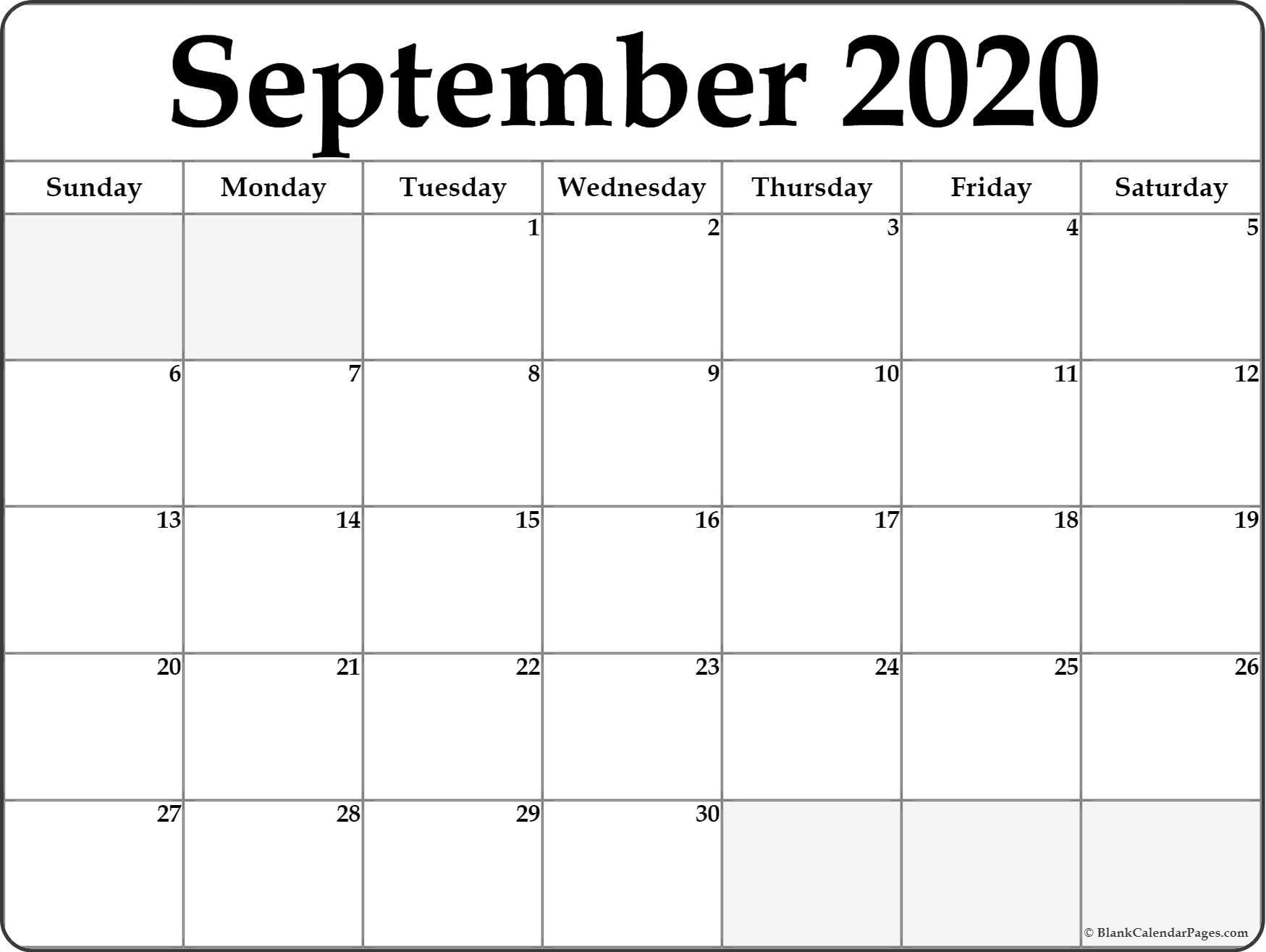 September 2020 Calendar  </p>   </div>        <br>     <div class=