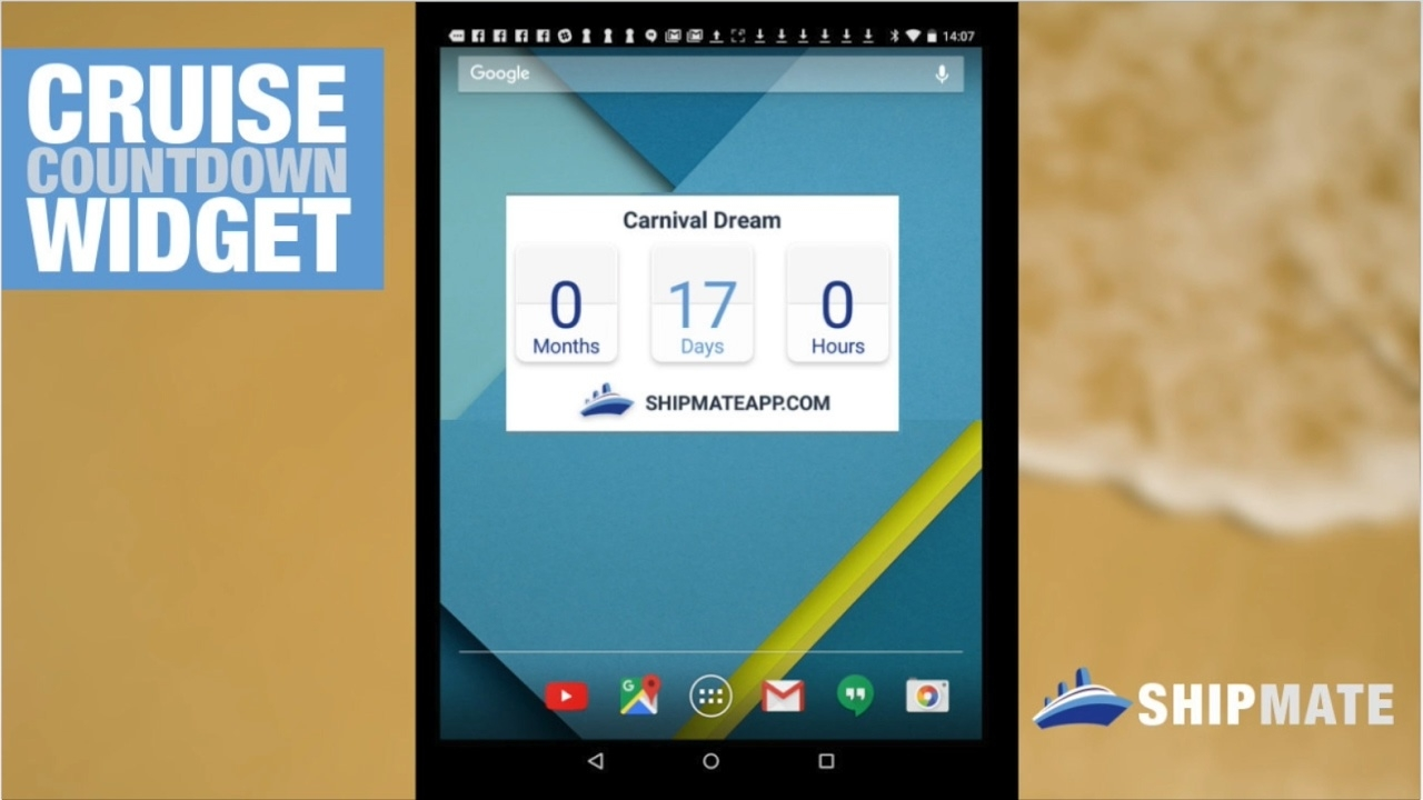 Ship Mate Tutorial #3: Cruise Countdown Widget (Android)_Countdown Calendar Widget Android