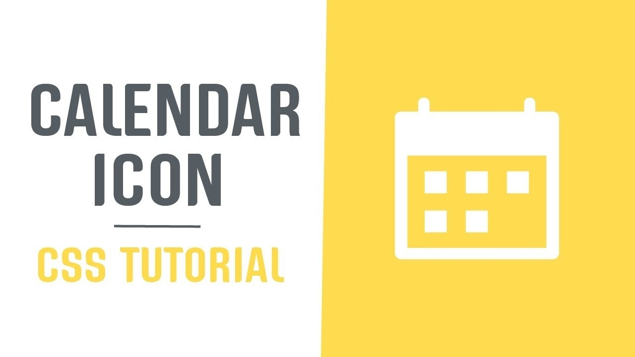 Single Element + Scalable Calendar Icon | Pure Css Single Element Icons |  Css Tutorial_Calendar Icon Using Css
