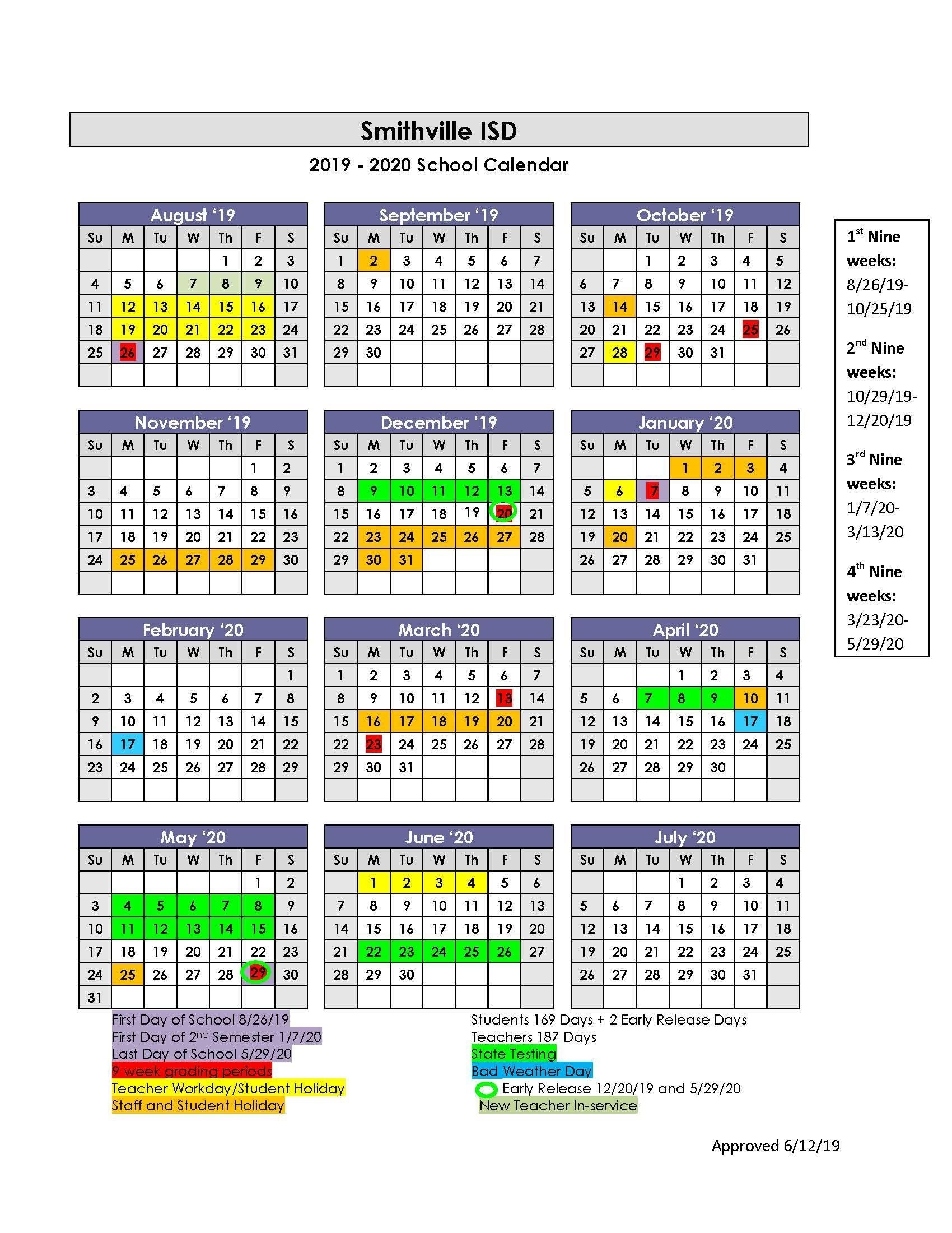Sisd Academic Calendar – School Board – Smithville Independent_Calendar School District 42