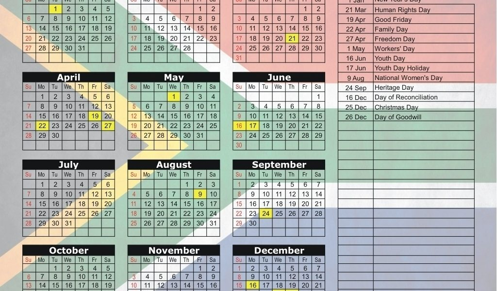 South Africa 2019 / 2020 Holiday Calendar-School Calendar 2020 South_School Calendar 2020 South Africa