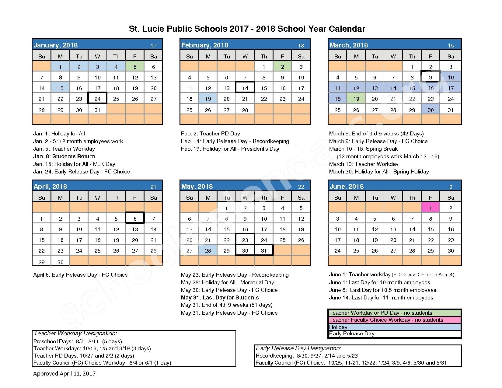 Southern Oaks Middle School Calendars – Port St Lucie, Fl_School Calendar Port St Lucie