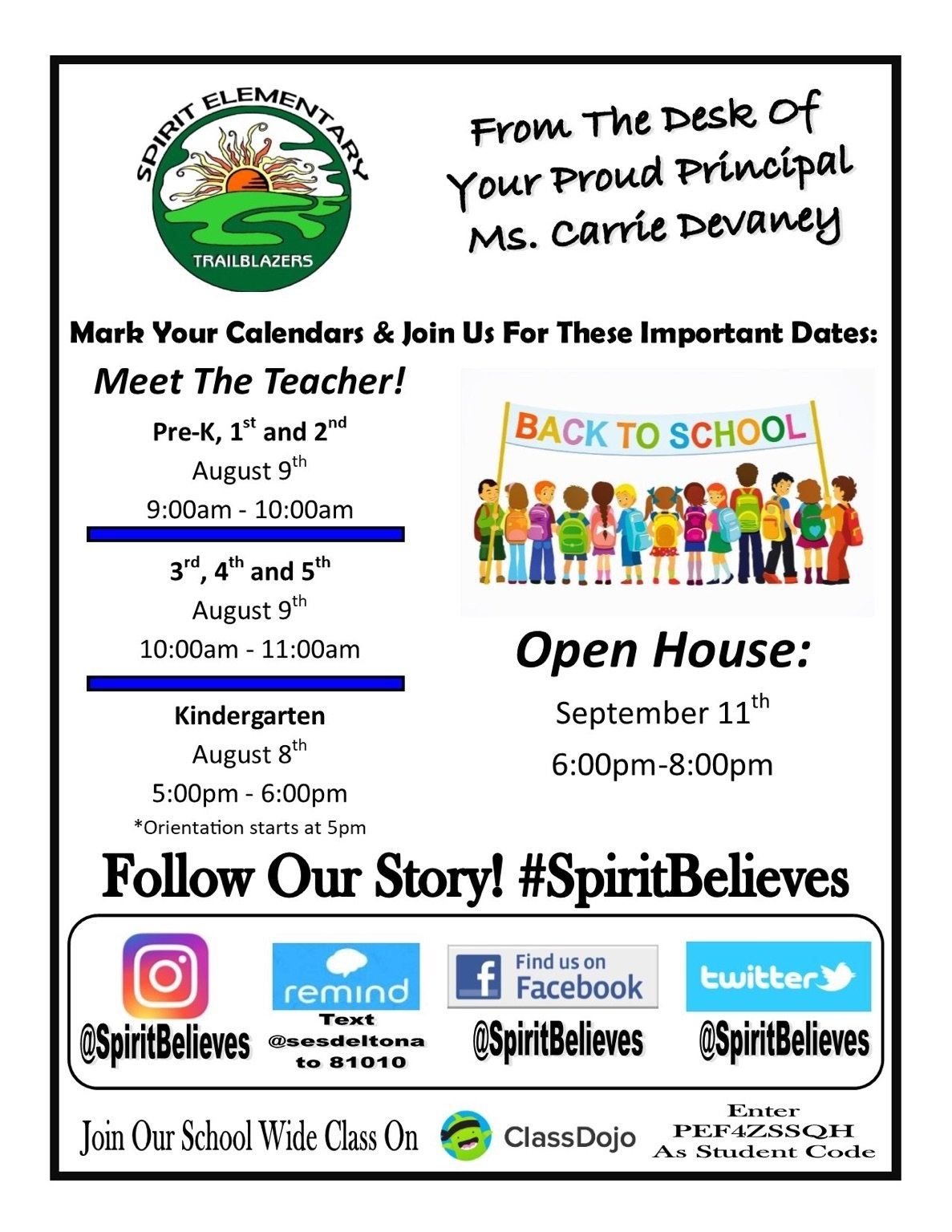 Spirit Elementary_School Calendar Volusia 2020