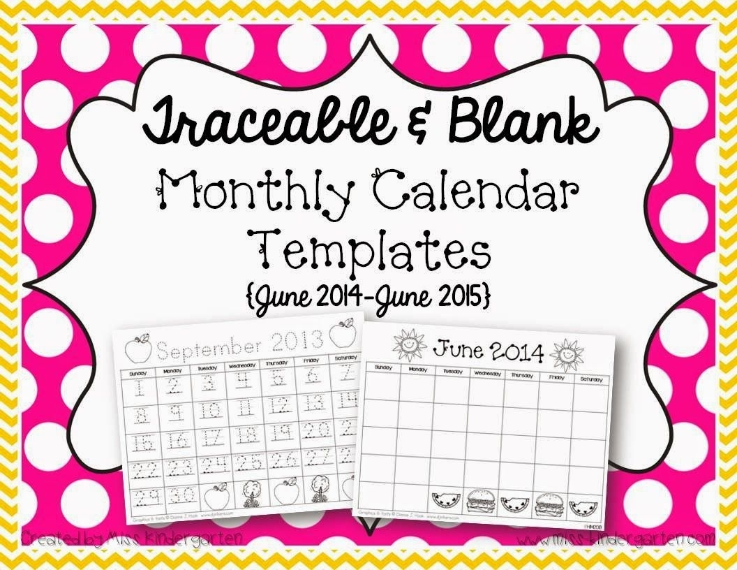 Spring Break!! | Education | Monthly Calendar Template, Blank_Blank Calendar Template Kindergarten