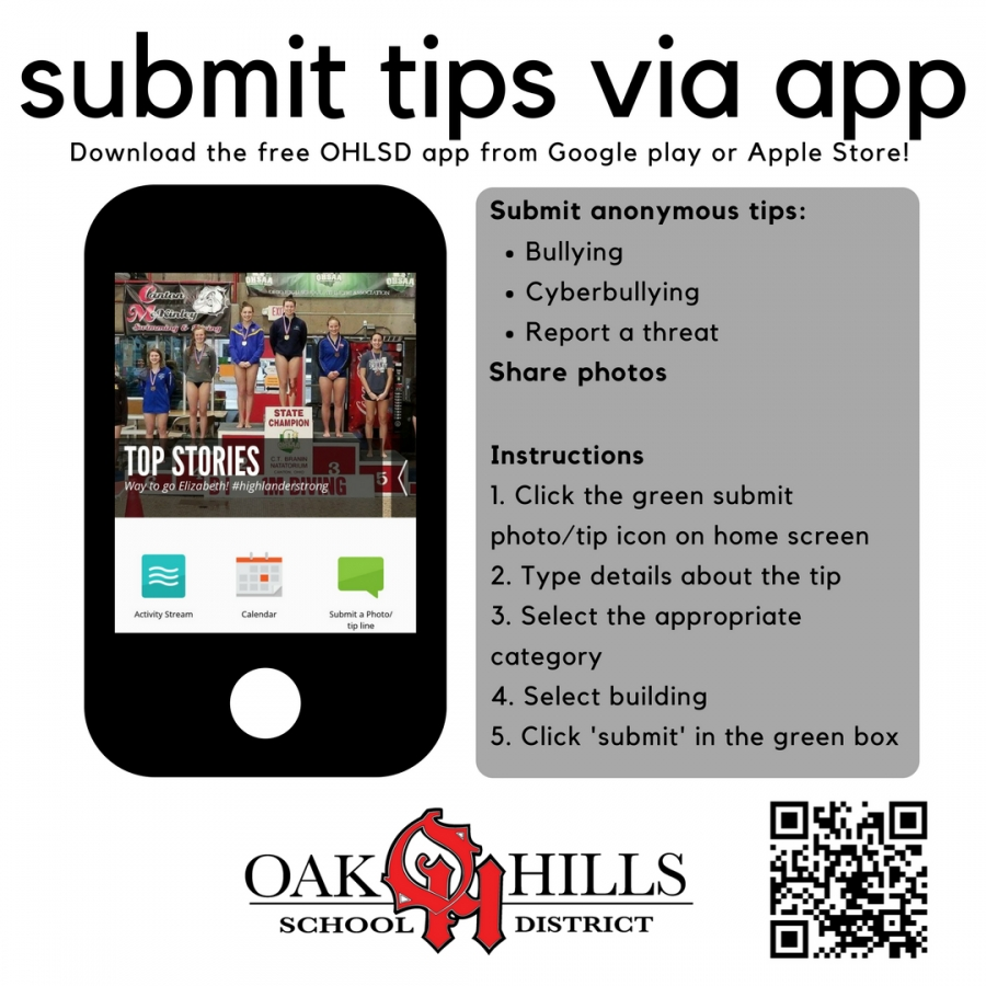 Submit Tips Via Free Ohlsd App_C O Harrison School Calendar