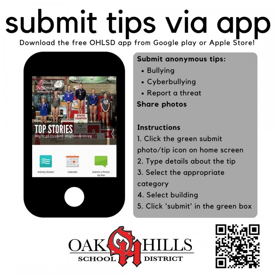 Submit Tips Via Free Ohlsd App_C O Harrison School Calendar