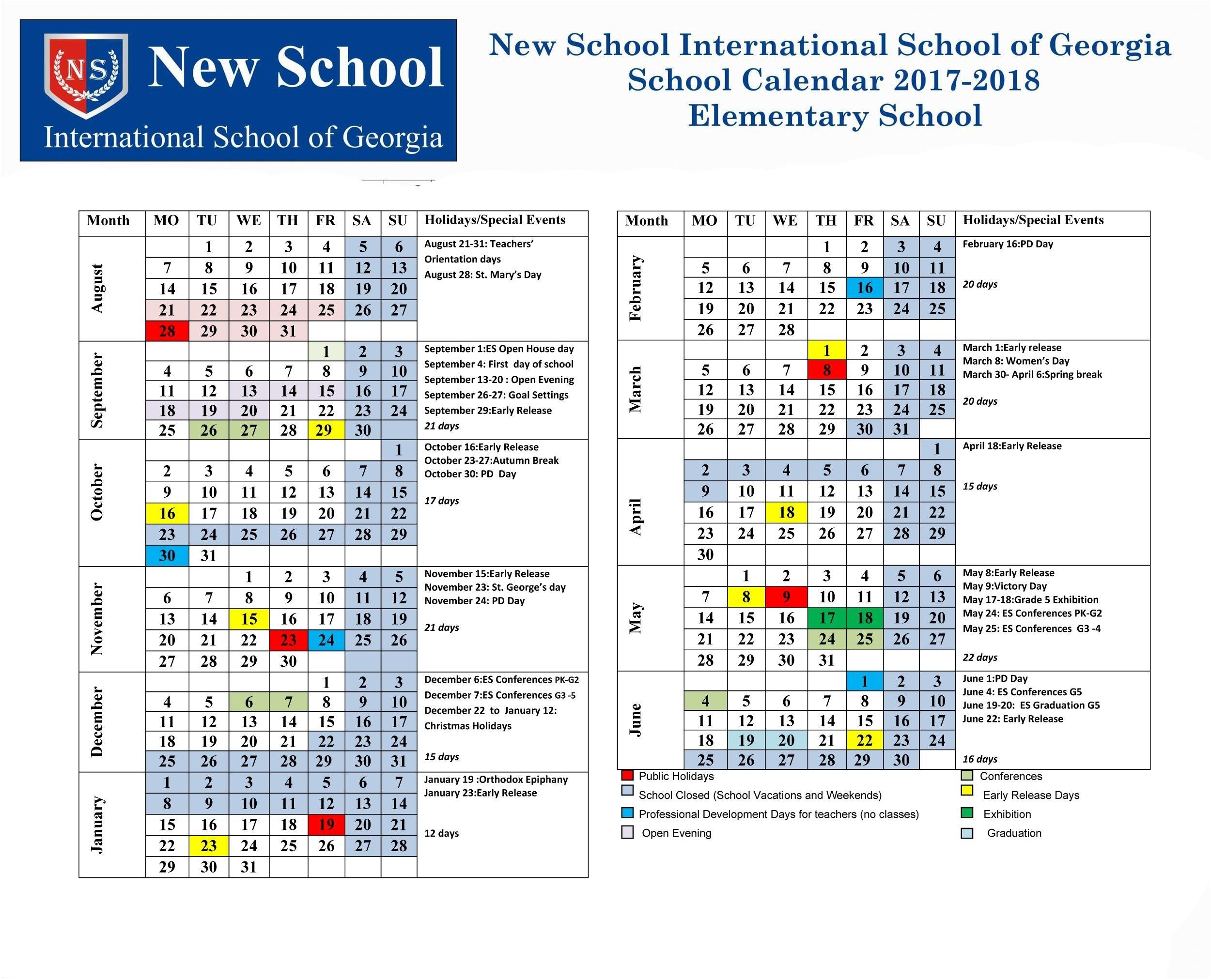 Success Academy Calendar 2017 To Download Or Print_Region 9 School Calendar