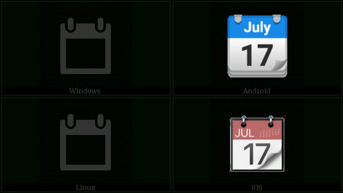 Tear-Off Calendar | Utf-8 Icons_Utf 8 Calendar Icon