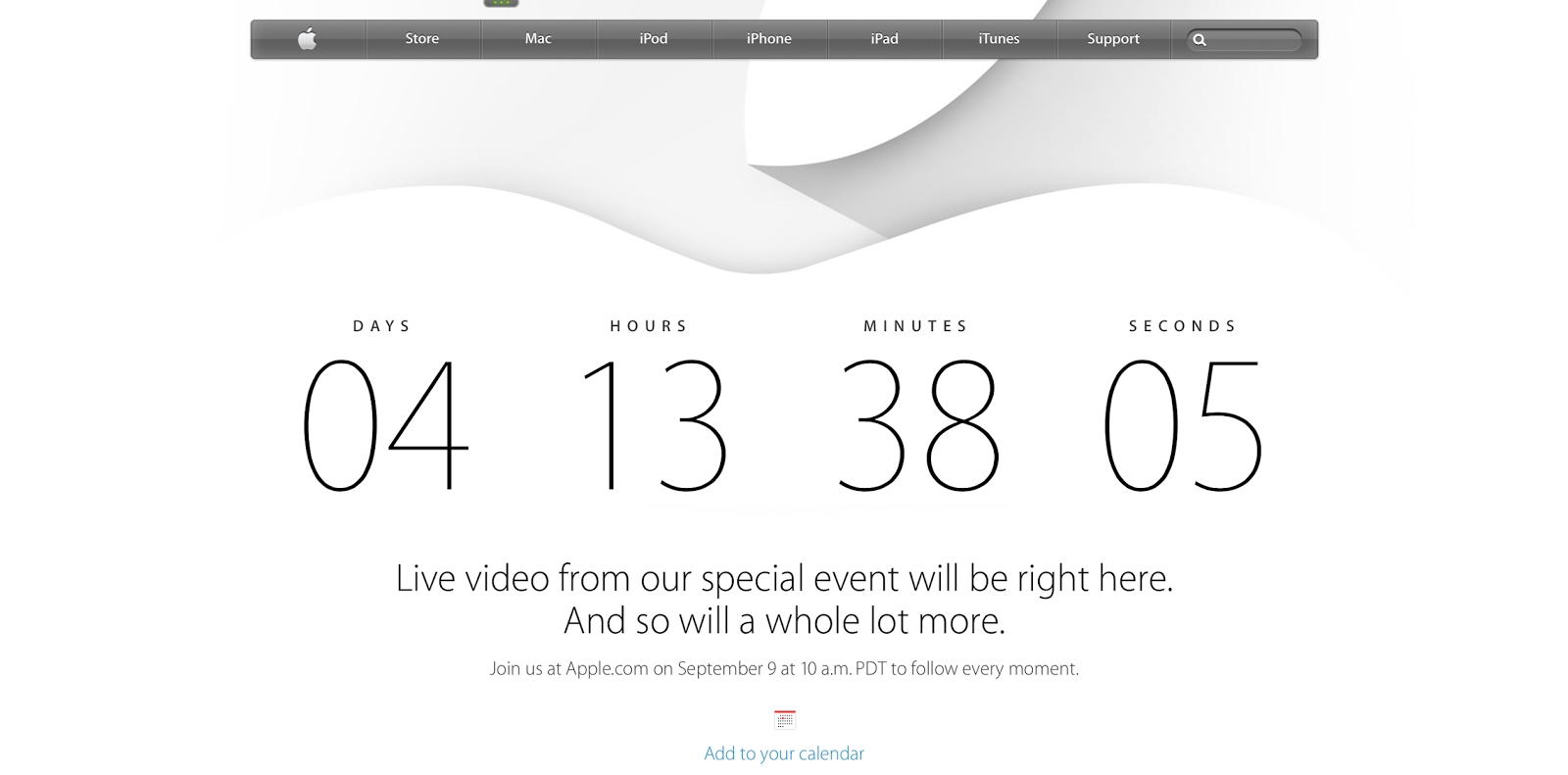 Tech Talk 4 Geeks: Apple Makes Page With Countdown For Iphone 6 Event_Calendar Countdown Iphone 6
