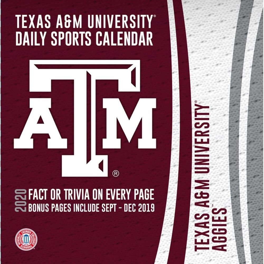 Texas A&m Aggies 2020 Desk Calendar_Alabama A&m School Calendar