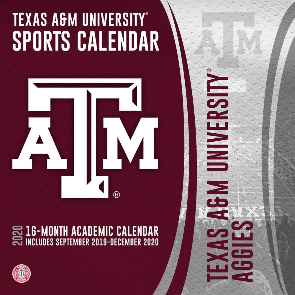 Texas A&m Aggies 2020 Wall Calendar_A&m School Calendar 2020