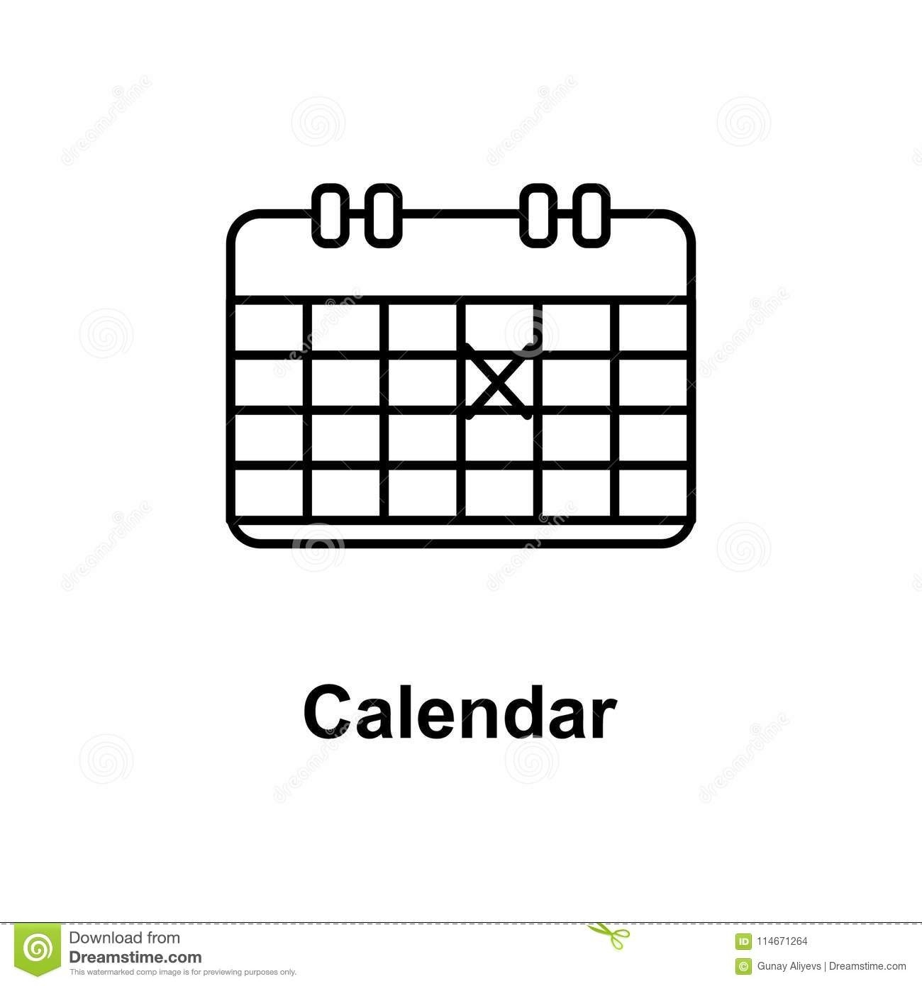 The Calendar Icon. Element Of School Icon For Mobile Concept And Web_Calendar Icon For Website