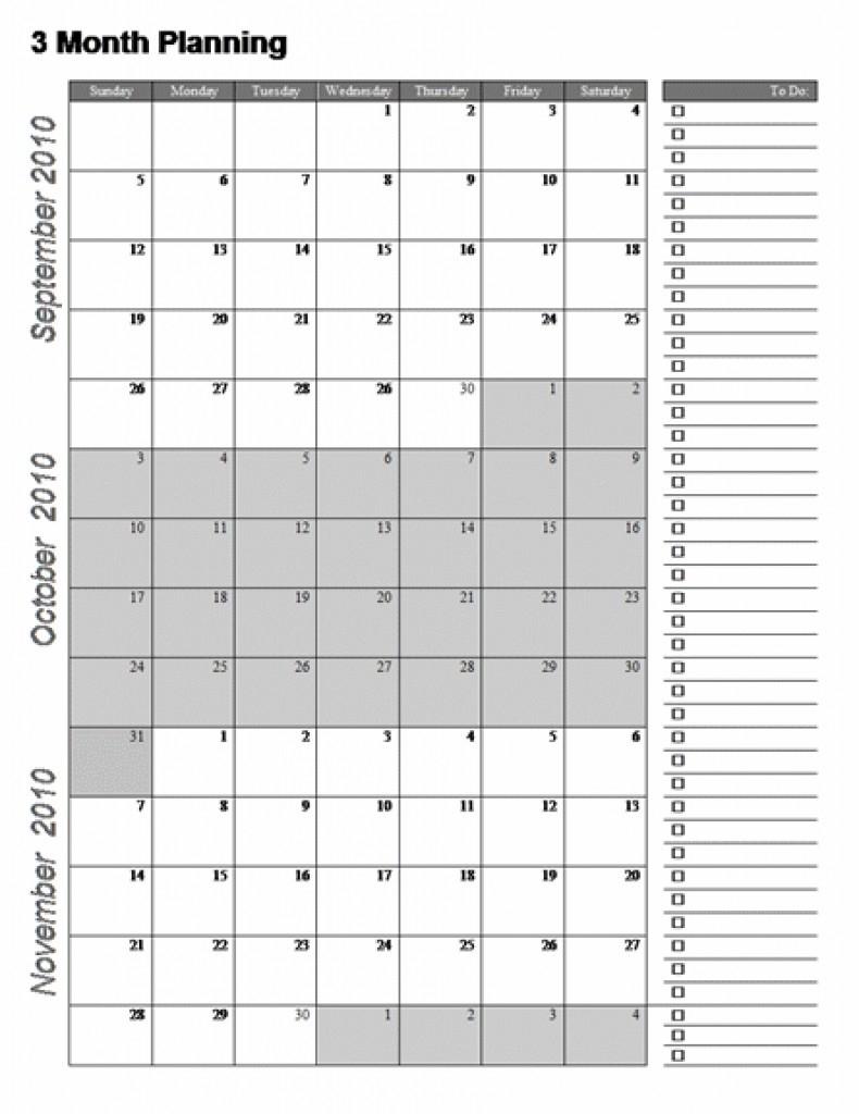 Three Month Calendar Template Great Printable Calendars Gallery_3 Month Blank Calendar Template