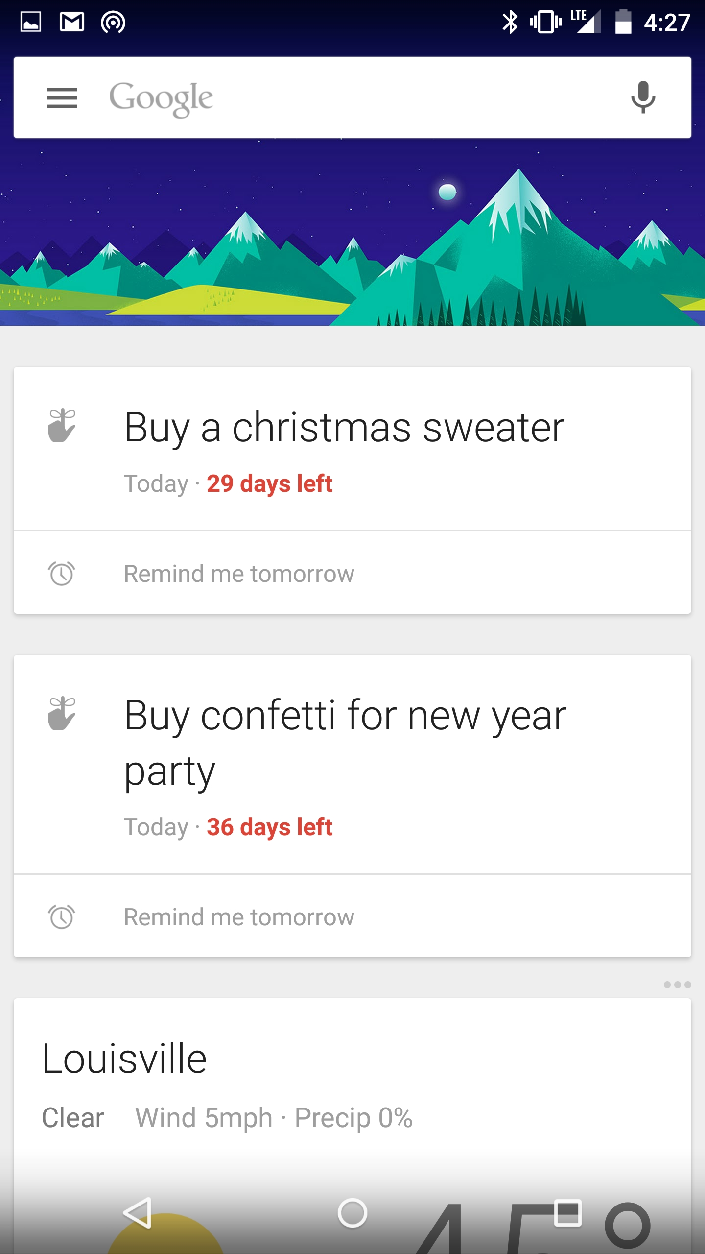 Tip: Google Now Can Give You A Countdown To Some Events Based On_Countdown Calendar For Android