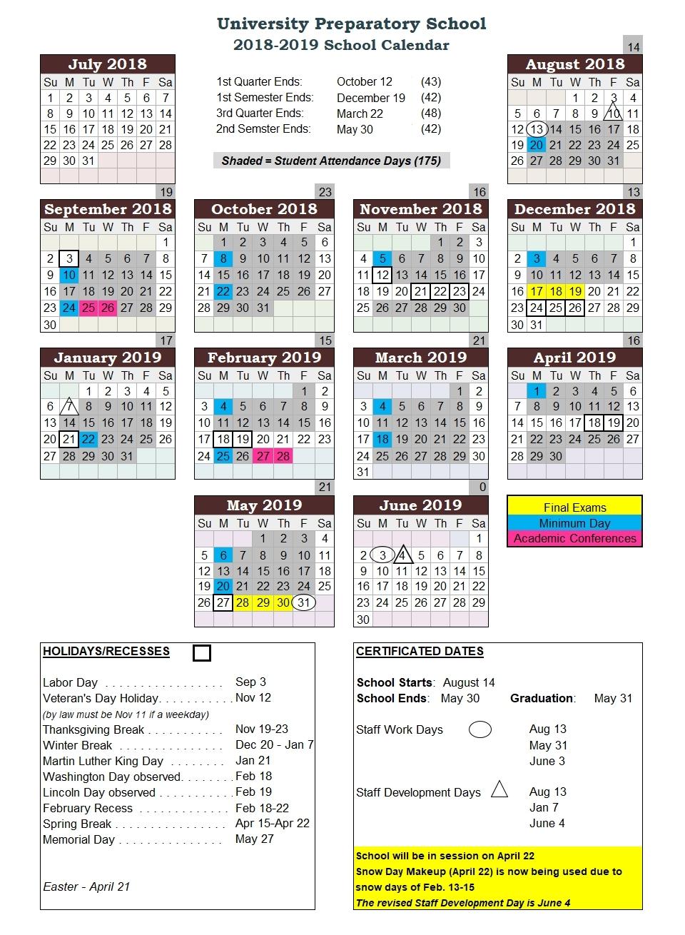 U Of H School Calendar  </p>   </div>        <br>     <div class=