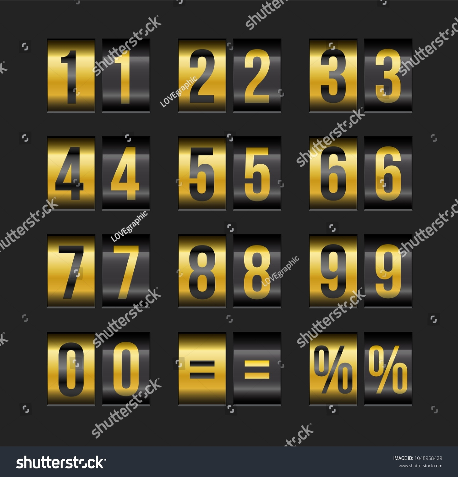 Vector Countdown Timer Date Calendar Scoreboard Stock Vector_Calendar Countdown Between Dates