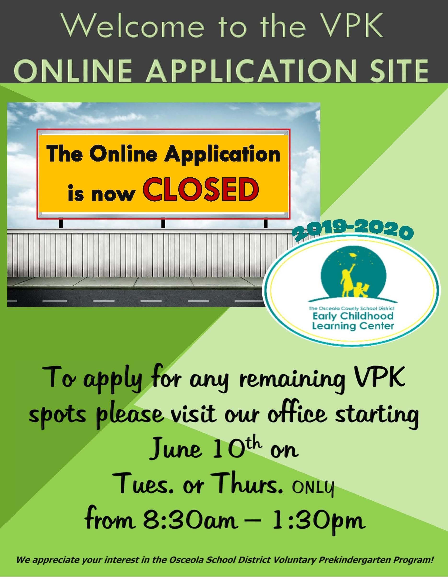 Vpk Enrollment Steps - School District Of Osceola County_School Calendar Osceola County 2020