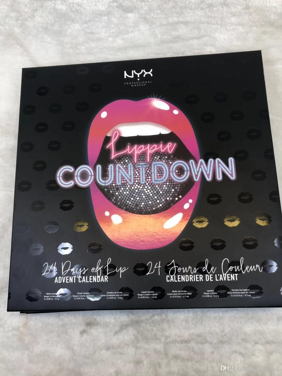 Waterproof Long-Lasting Nyx Lippie Countdown 24 Days Of Lip Advent Calendar  24Pc Holiday Travel Gift Set Drop Shipping Lip Gloss Cosmetics_Advent Calendar Lippie Countdown
