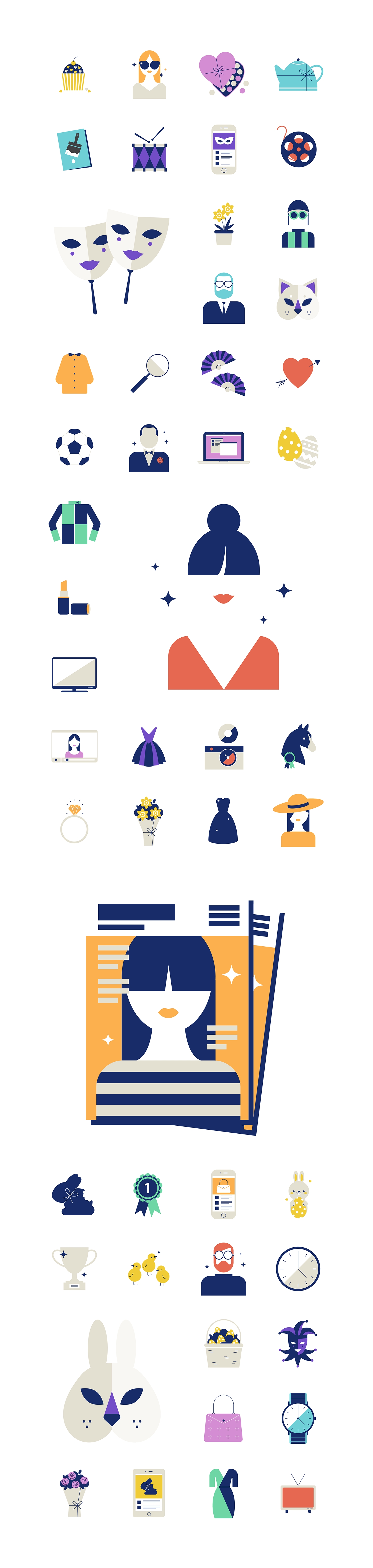 We Created A Suite Of Illustrative Icons For Facebook For Businesses_Facebook Creation With A Calendar Icon