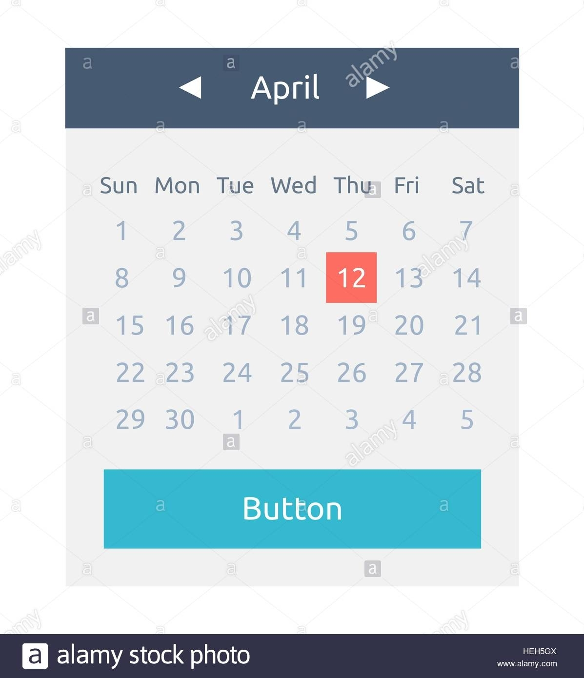 Website Element Calendar Button. Calendar Icon Page, Monthly Date_Calendar Icon For Website