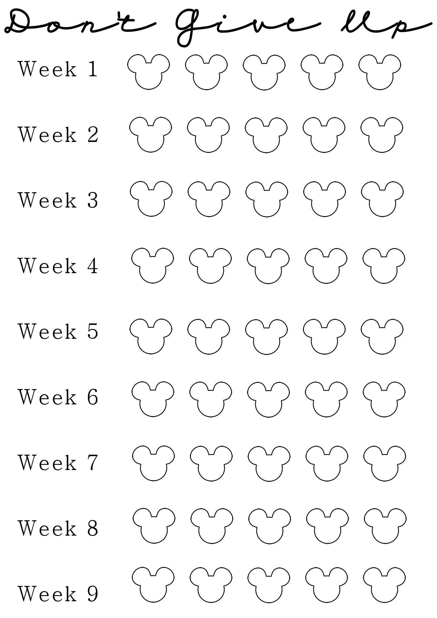 Week 2 Of My Nine Week Weight Loss Challenge! | Thinspiration_Countdown Calendar For Weight Loss